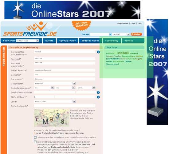 registrierung sportsfreunde